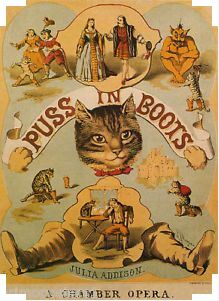 Puss in Boots vintage opera poster