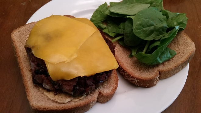 black bean burgers dressed